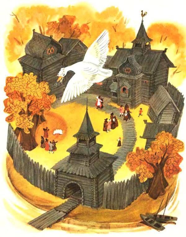 Белая уточка - русская народная сказка. Читать онлайн.