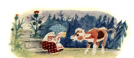 Бычок – чёрный бочок, белые копытца — русская народная сказка 5 (1)