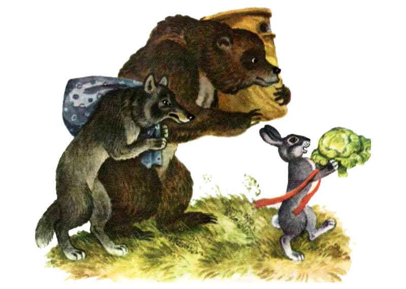 Бычок-смоляной бочок - русская народная сказка