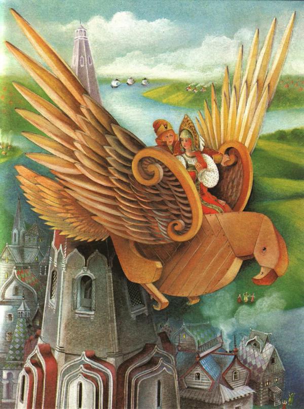 Деревянный орел - русская народная сказка