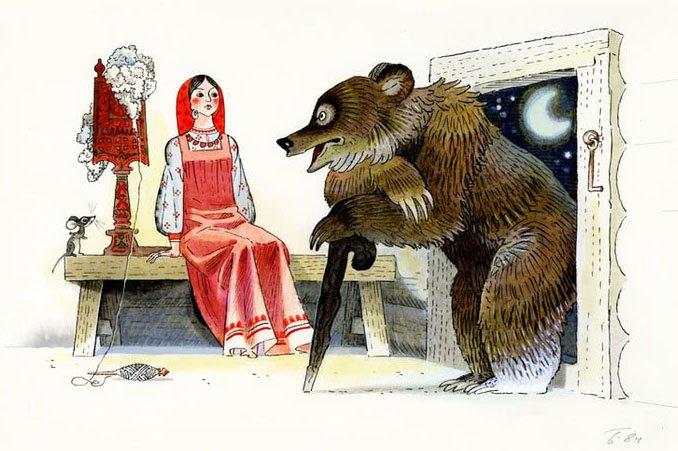 Дочь и падчерица - русская народная сказка