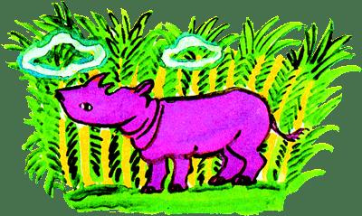 Как на коже носорога появились складки - Редьярд Киплинг