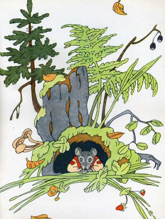 Курочка, мышка и тетерев - русская народная сказка