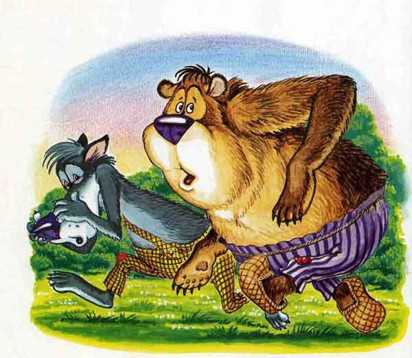 сделайте иллюстрации к русской народной сказке лиса волк и медведь фото фотки