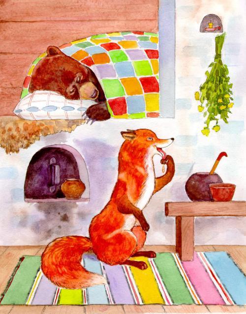Лиса и медведь - русская народная сказка. Читать онлайн.