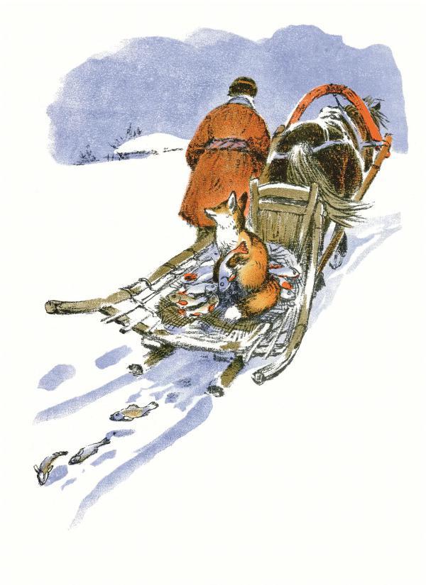 Лиса и волк - русская народная сказка. Читать онлайн.