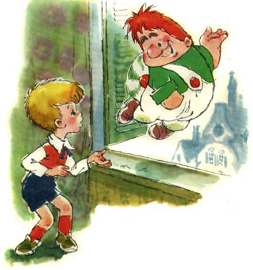 Малыш и карлсон картинки из книги, новым годом