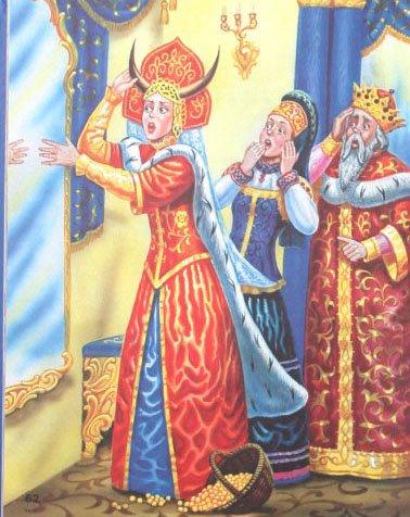 Наказанная царевна - русская народная сказка. Читать онлайн.