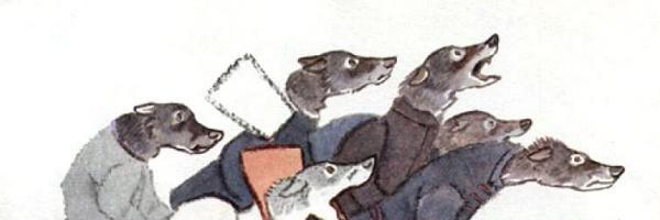 Напуганные волки — русская народная сказка. Читать онлайн. 0 (0)