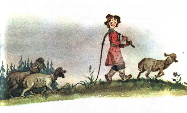 Пастушья дудочка - русская народная сказка. Читать онлайн.