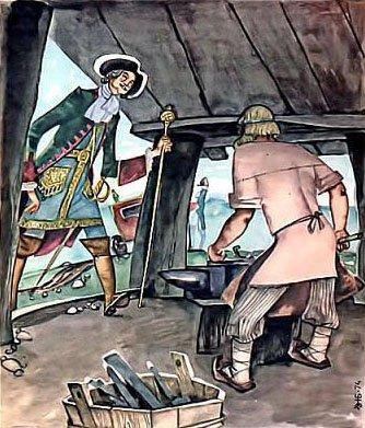 Петр Первый и кузнец - русская народная сказка