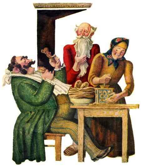 Петух и жерновцы - русская народная сказка. Читать онлайн.