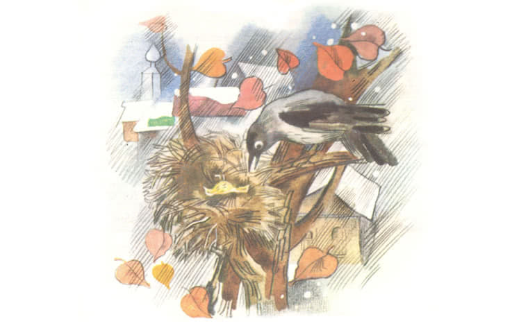 Про Воронушку-чёрную головушку и жёлтую птичку Канарейку - Мамин-Сибиряк Д.Н.