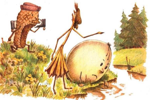 Пузырь, соломинка и лапоть - русская народная сказка