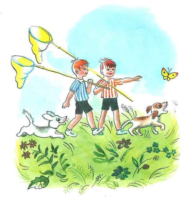 Сказка Бабочка - Сутеев В.Г. С иллюстрациями автора.