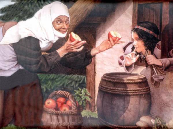 Сказка Белоснежка и семь гномов - Братья Гримм. Читать онлайн.