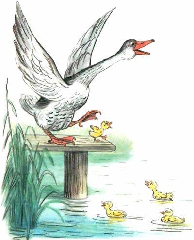 Сказка Гусак - Толстой А.Н. Читайте онлайн с картинками.