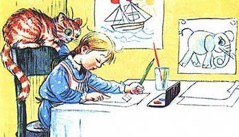 Сказка Капризная кошка — Сутеев В.Г. С иллюстрациями автора.