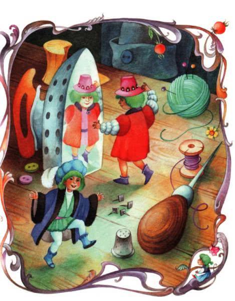 Сказка Маленькие человечки - Братья Гримм. Читать онлайн.