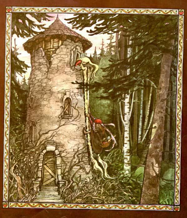 Сказка Рапунцель - Братья Гримм. Читать онлайн.