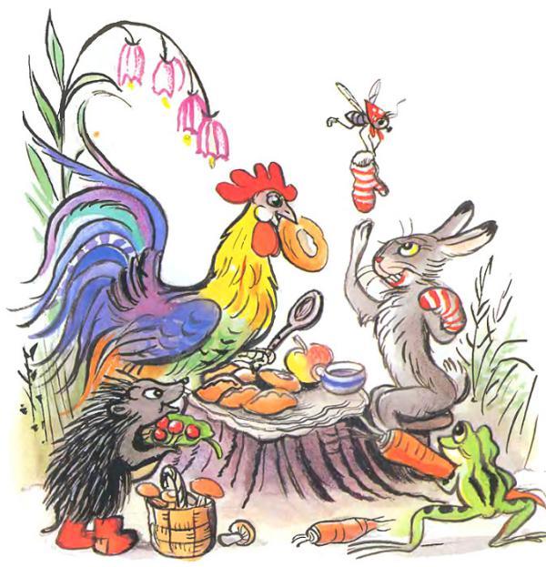 Сказка Разные колёса - Сутеев В.Г. С иллюстрациями автора.