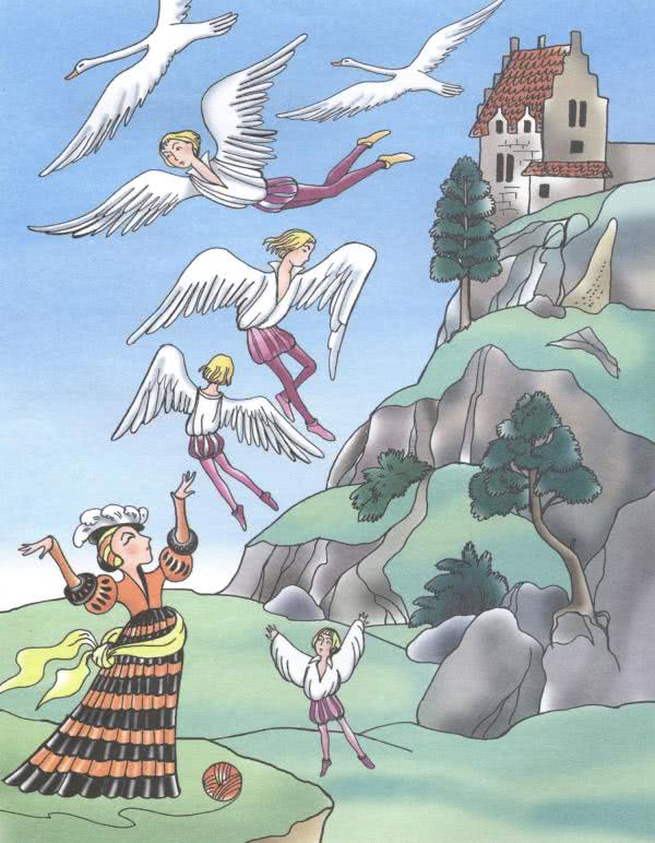 Сказка Шесть лебедей - Братья Гримм. Читать онлайн.