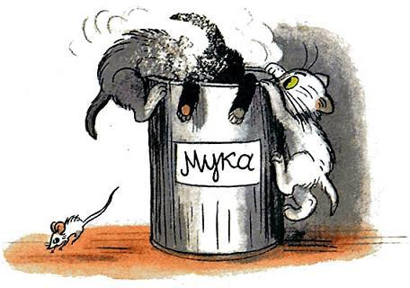 Сказка Три котёнка - Сутеев В.Г. С иллюстрациями автора.