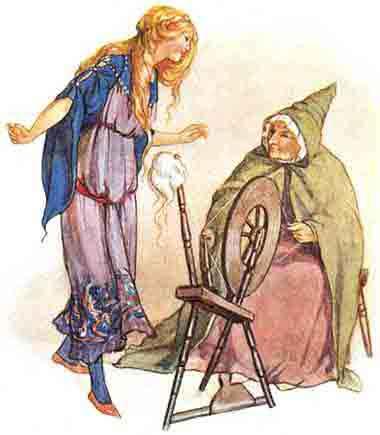 Сказка Веретено, ткацкий челнок и иголка - Братья Гримм