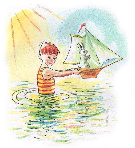 Сказка Зайкин кораблик - Сутеев В.Г. С иллюстрациями автора.