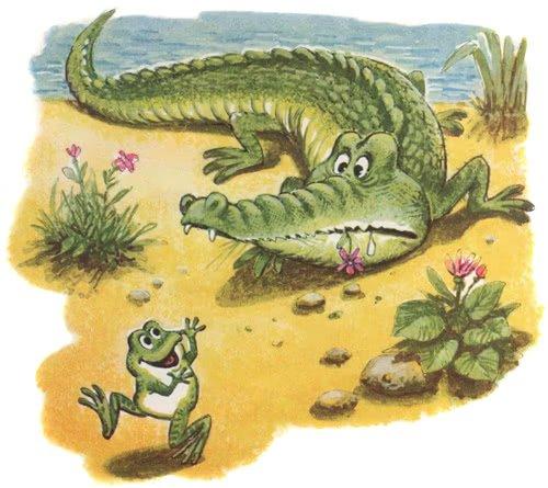 Сказка о знаменитом крокодиле и не менее знаменитом лягушонке