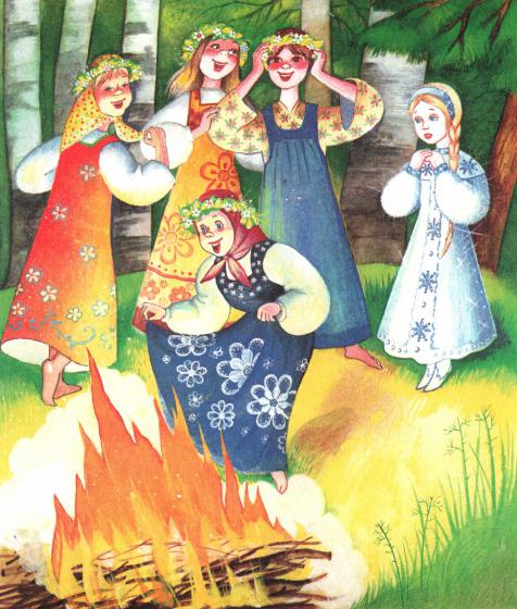 Снегурочка - русская народная сказка. Читать онлайн.