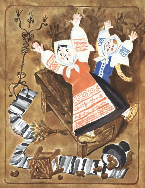 У страха глаза велики - русская народная сказка