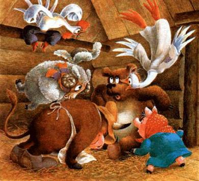 Зимовье зверей - русская народная сказка. Читать онлайн.