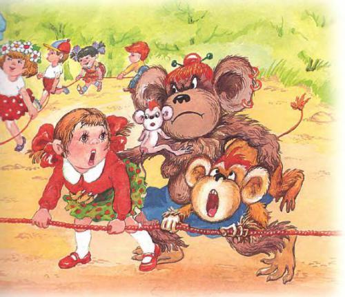 Гирлянда из малышей обезьянки