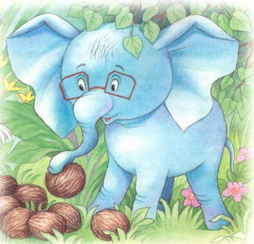 слоненок и орехи