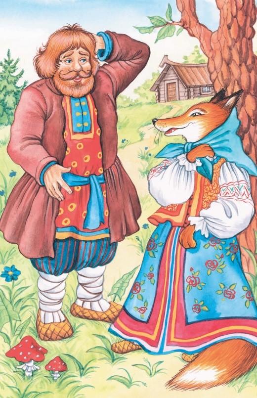 Крестьянин и Лисица - басня Крылова