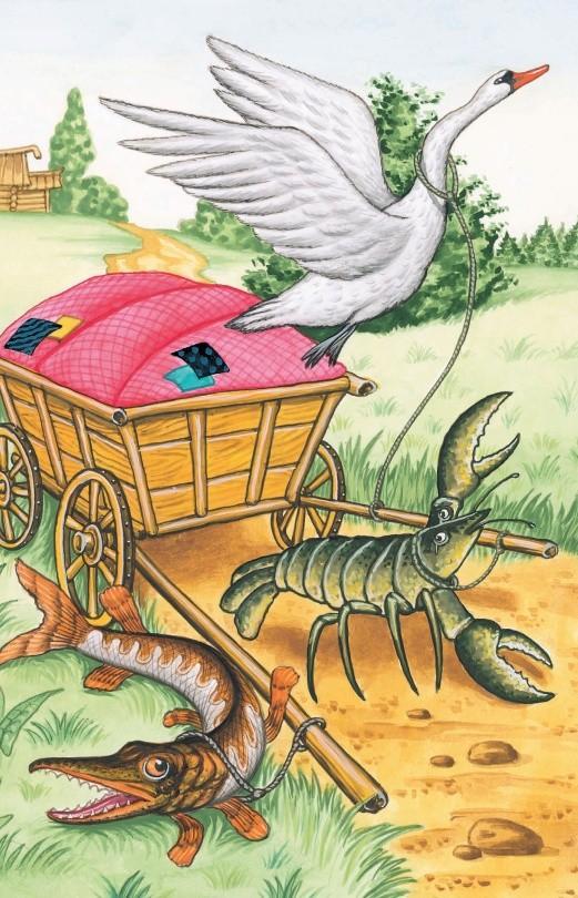 Лебедь, Рак и Щука - басня Крылова