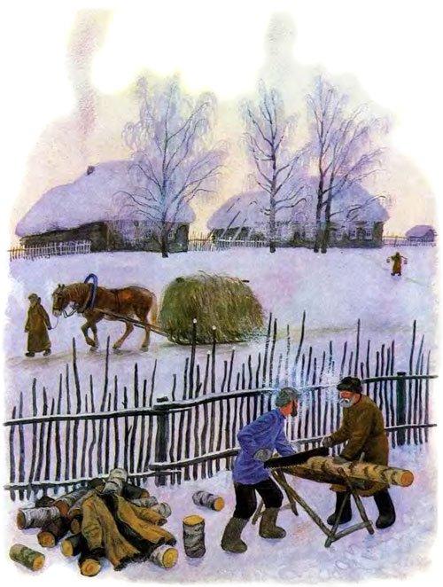 Проказы старухи-зимы - Ушинский К.Д.