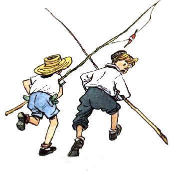 мальчики бегут от сторожа