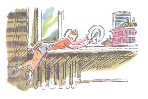 дениска выбрасывает кашу в окно