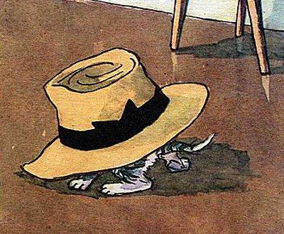 шляпа лежит на полу
