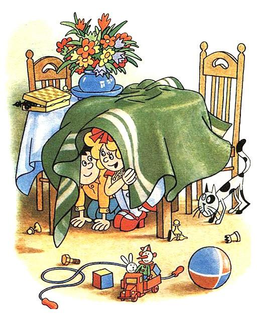 дети спрятались под столом рассказ Затейники