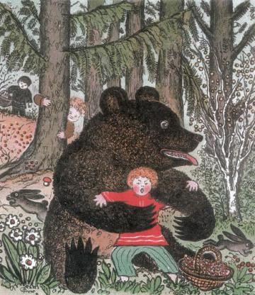 потешка я медведя поймал