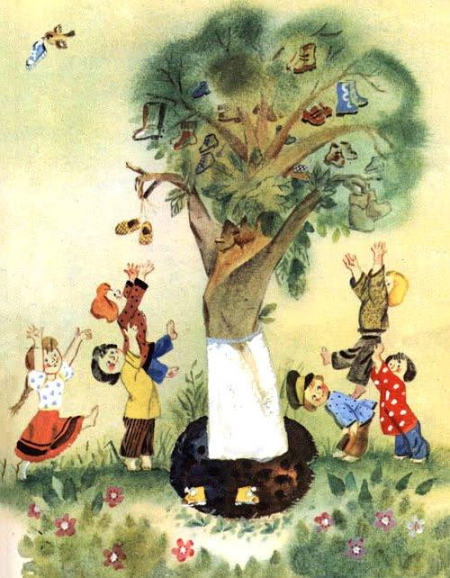 дерево и дети