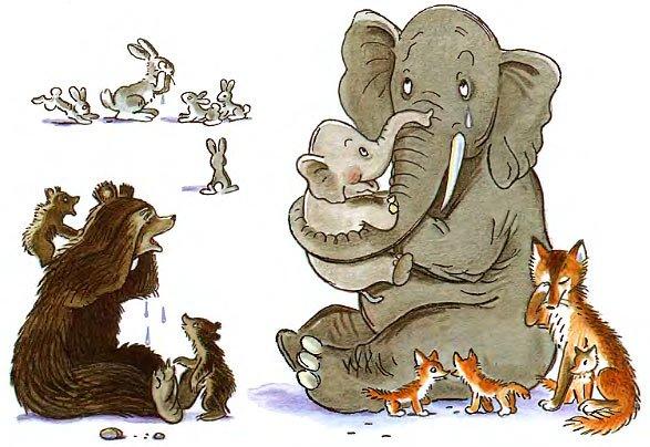 слоны и детеныши