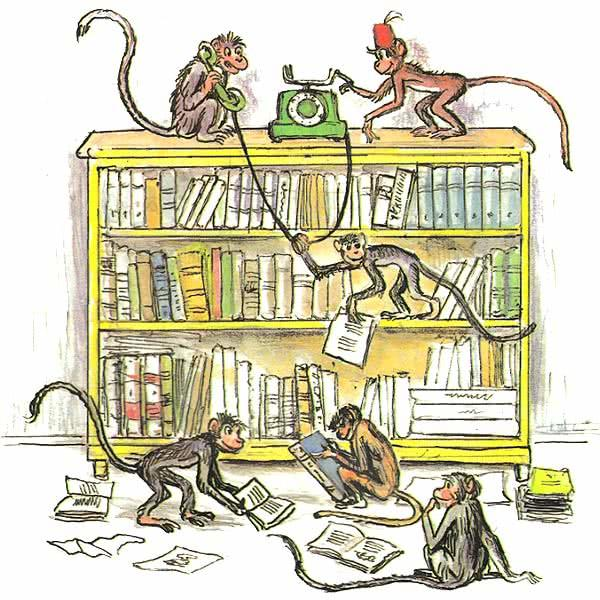 мартышки и книжки