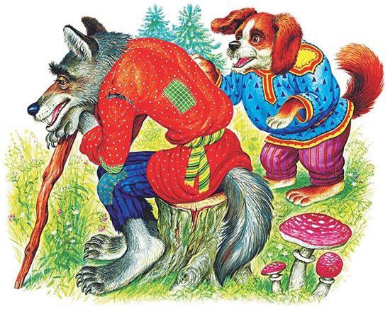 Волк и собака - Ушинский К.Д.