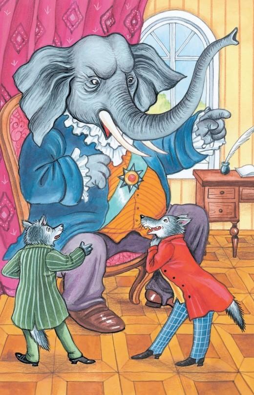 Слон на воеводстве - басня Крылова