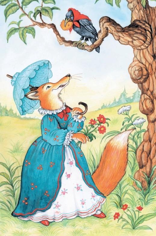 Ворона и Лисица - басня Крылова