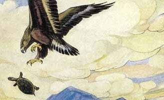 Черепаха и орел — Толстой Л.Н. Басня как орел учил летать черепаху.
